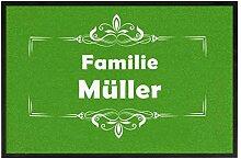 True Statements Fussmatte Familie Dein Nachname -