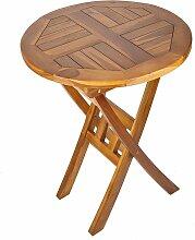 Trueshopping - Solider Runder Gartentisch aus Holz