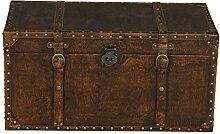 Truhe Antik 70 braun Koffer Vintage