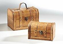 Truhe Holz Schatzkiste Piratenkiste Schmuckkasten Möbel Antik Geschenk
