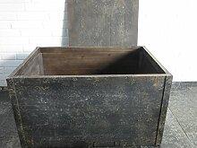Truhe Holztruhe Wäschetruhe Holzkiste Kommode 79x55x45 cm Antik Braun Impession