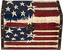 Truhe Kiste 12A6024 USA, Holztruhe mit Canvas