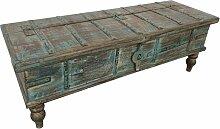 Truhe Kiste Holztruhe Box Massiv Hochbeinig