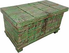 Truhe Kiste Holztruhe grün Box Vintage Massiv