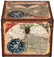 Truhe Kiste JS 14325 , Holztruhe mit hochwertigem