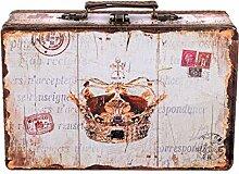 Truhe Kiste KD 1289 Koffer , Kofferset , Holztruhe mit edlem Leder bezogen im Vintage Look, Schatzkiste,Kiste, Piratenkiste, Kleinmöbel, Mit Metallbeschlägen, Antikoptik, Holz, verschieden Größen, Maritim, Deko, Hochwertig, Kolonialtruhe, Kolonialstil, Holzbox, Truhe mit Ornamenten (Größe L ( 31cm B x 20cm T x 10cm H ))