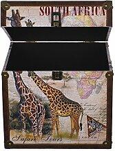 Truhe Kiste KD 385 , Holztruhe mit Canvas bezogen