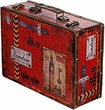 Truhe Kiste SJ 15369 Koffer , Kofferset , Holztruhe mit Leder bezogen im Vintage Look, Schatzkiste,Kiste, Piratenkiste, Kleinmöbel, Mit Metallbeschlägen, Antikoptik, Holz, verschieden Größen, Maritim, Deko, Hochwertig, Kolonialtruhe, Kolonialstil, Holzbox, Truhe mit Ornamenten . (Größe XL London (36cm B x 25cm T x 12cm H ))