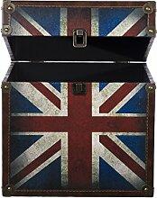 Truhe Kiste SJ08270 UK, Holztruhe mit Canvas