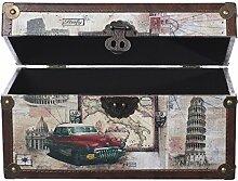 Truhe Kiste VGX001 Städtereise, Holztruhe mit