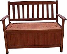 Truhenbank 2-Sitzer 120x60x90cm 120Liter Holz Eukalyptus FSC