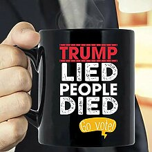Trump Lied People Died Go Vote Coffee Mug