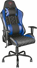 Trust GXT 707R Resto Gaming-Stuhl (Ergonomisch mit Höhenverstellbare Armlehnen) blau