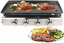 Trust me Gas Plancha LPG Gas BBQ Grill 4 Brenner