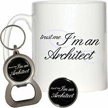 Trust Me I 'm ein Pin Badge Architekt 295ml,