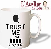 Trust Me I am Sherlocked Tasse Kaffeebecher - Originelle Geschenkidee - Spülmaschinenfes