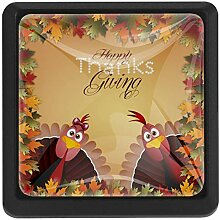Truthähne für Thanksgiving Schubladenknauf mit