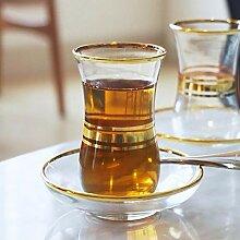 Truthahn Schwarzer Teetasse Untertasse Set