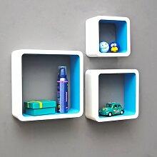 TS-Ideen Set von 3Regal Lounge Cube Retro 1970er weiß/blau