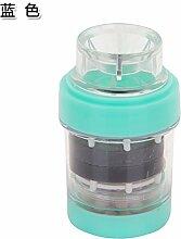 TS-nslixuan Medizinische Stein Magnetisierung Wasseraufbereiter, Haushalt Küche Leitungswasser Filter, Badezimmer Armatur, Wasserfilter, Blau
