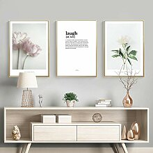 Tsada Leinwand Bedrucken Blume Pflanze Triptychon