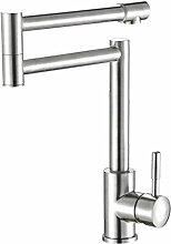 TSAR003 Mischer 304 Edelstahl Spülbecken Armatur Drehbar Blei , E