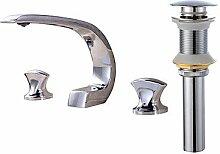 TSAR003 Zeitgenössisch 3-Loch-Armatur Löwenfuß With Messingventil Zwei Griffe Drei Löcher For Chrom , Waschbecken Wasserhahn