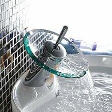 TSAR003 Zeitgenössisch Becken Wasserfall With Messingventil Einhand Ein Loch For Chrom , Badewannenarmaturen / Waschbecken Wasserhahn / Armatur