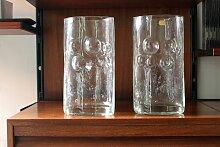 Tschechoslowakische Vintage Glasblasen Vasen von