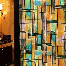 TT&CC Buntglas-Fenster-Folie,Privatsphäre