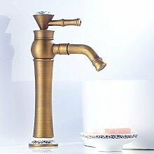 TT Haushaltswaren TT Wasserhahn Europäische Antike Blau und Weiß Porzellan Waschbecken Wasserhahn Retro Bad Heißes und Kaltes Waschbecken Wasserhahn Waschbecken Wasserhahn