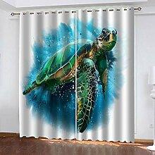 TTBBBB 3D Vorhang Wohnzimmer Grüne