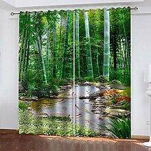 TTBBBB Blickdicht Vorhang Für Schlafzimmer Grüne