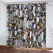TTBBBB Blickdicht Vorhang Für Wohnzimmer Pebble