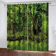 TTBBBB Vorhang Küche Grüne Wälder