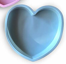 beicemania Silikon Backform Herz 3D Kuchenform Herzform Silikon Diamond 3D Mousse Backform 10 cm