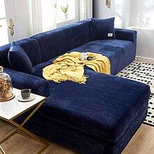 TTJJ Samt Sofabezug, Stretch Sofahusse Weich