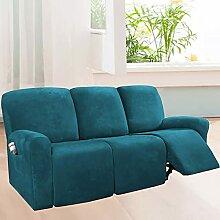 TTJJ Stretch Sofabezug, 8 Stück Weicher Samt