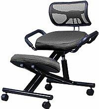 TTLIFE Ergonomischer Kniehocker, orthopädische Hocker Bandage mit PU-Leder verstellbarer Sitzhöhe Hocker, für gute Körperhaltung, für Büro zu Hause, als 330lbs Schwarz