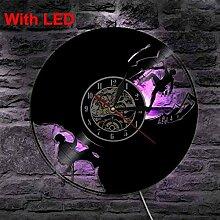 TTZSE LED Vinyl Uhr Licht Farbwechsel Wandlampe