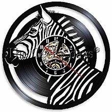 TTZSE Zebra Kopf Wandlampe Wanduhr Wandbehang