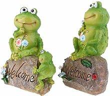 Tubayia 1 Paar Niedliche Frosch Familie Statue