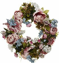 Tubayia Künstliche Blumenkranz Seideblumen Rattan