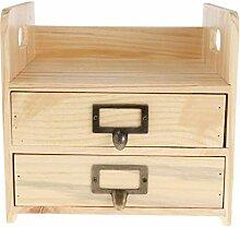 Tubayia Vintage Holz Schubladen Aufbewahrungsbox