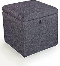 Tuch-Ansammlung für Schuhe Sofa-Hocker-Speicher-Hocker-stilvolles Bett Heck-Hocke-Dressing-Fußschemel Sofa-Hocker (Farbe wahlweise freigestellt) ( farbe : H )