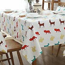 Tuch/ Baumwolle und Leinen Tischdecken/ American Country Tischdecken/ Leinen/ Tischtuch/ moderne minimalistische Tischdecke/ quadratische Tischdecke-C 140x140cm(55x55inch)