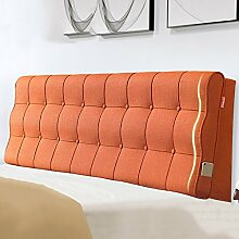 Tuch Bedside Kissen Sofa Rückenpolster Schwamm Doppelte lange Kissen Rückenlehne Kissen Kein Bett ( Farbe : No bedside-B , größe : 180*60cm )