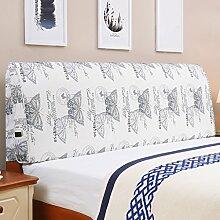 Tuch Bett Kissen Bett Abdeckung Schützen Sie die Taille Kissen Soft Tasche Lendenwirbelstütze Mit Nachttisch Abnehmbare und waschbar ( Farbe : Having bedside-f , größe : 150*55cm )