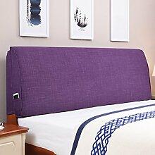 Tuch Bett Kissen Bett Abdeckung Schützen Sie die Taille Kissen Soft Tasche Lendenwirbelstütze Mit Nachttisch Abnehmbare und waschbar ( Farbe : Having bedside-a , größe : 190*55cm )