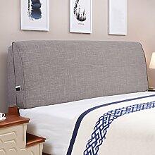 Tuch Bett Kissen Bett Abdeckung Schützen Sie die Taille Kissen Soft Tasche Lendenwirbelstütze Mit Nachttisch Abnehmbare und waschbar ( Farbe : Having bedside-e , größe : 120*55cm )